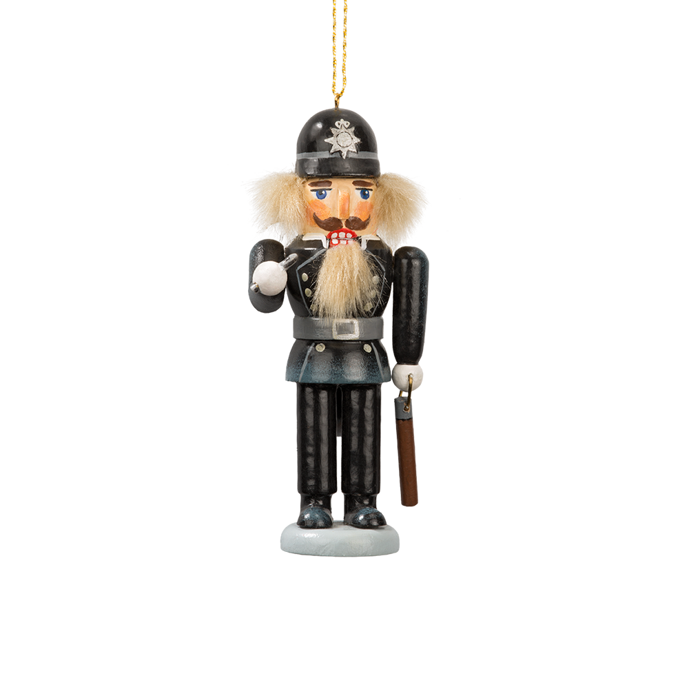 English Bobby Nutcracker Ornament
