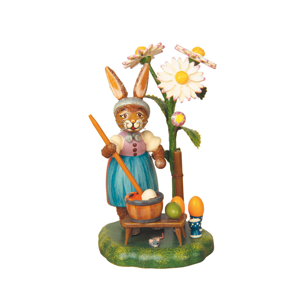 Bunny Painting Eggs Figurine