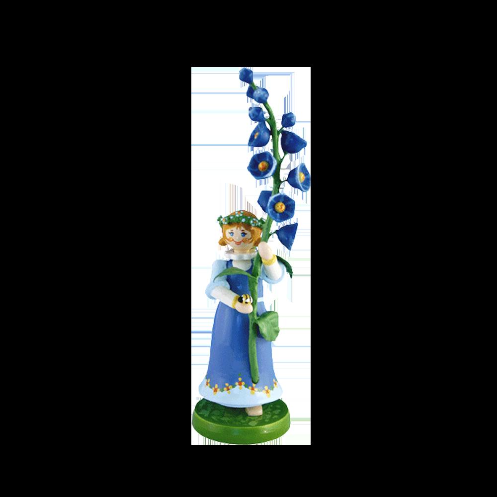Wood Flowerchild Monkshood Figurine