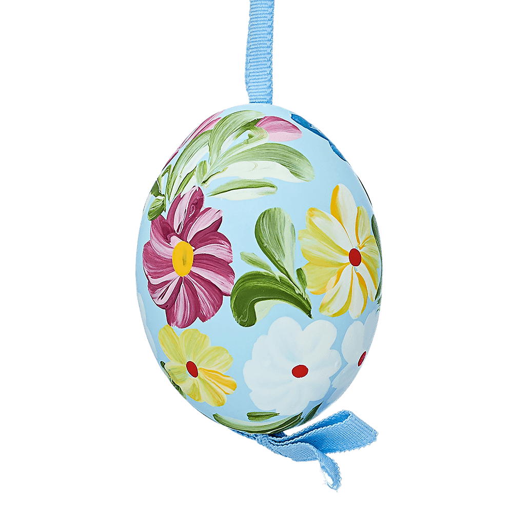 Easter Egg Blue with Flowers