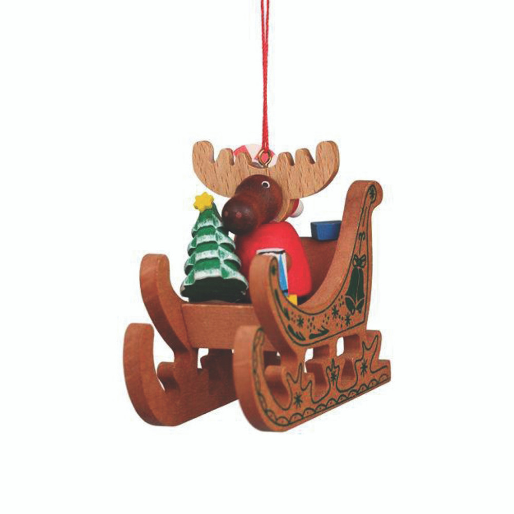 Reindeer in Sled