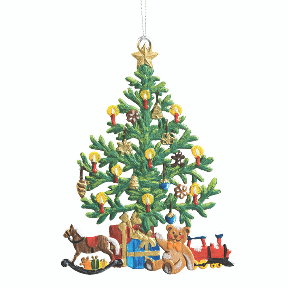 Candle Lit Tree with Gifts
