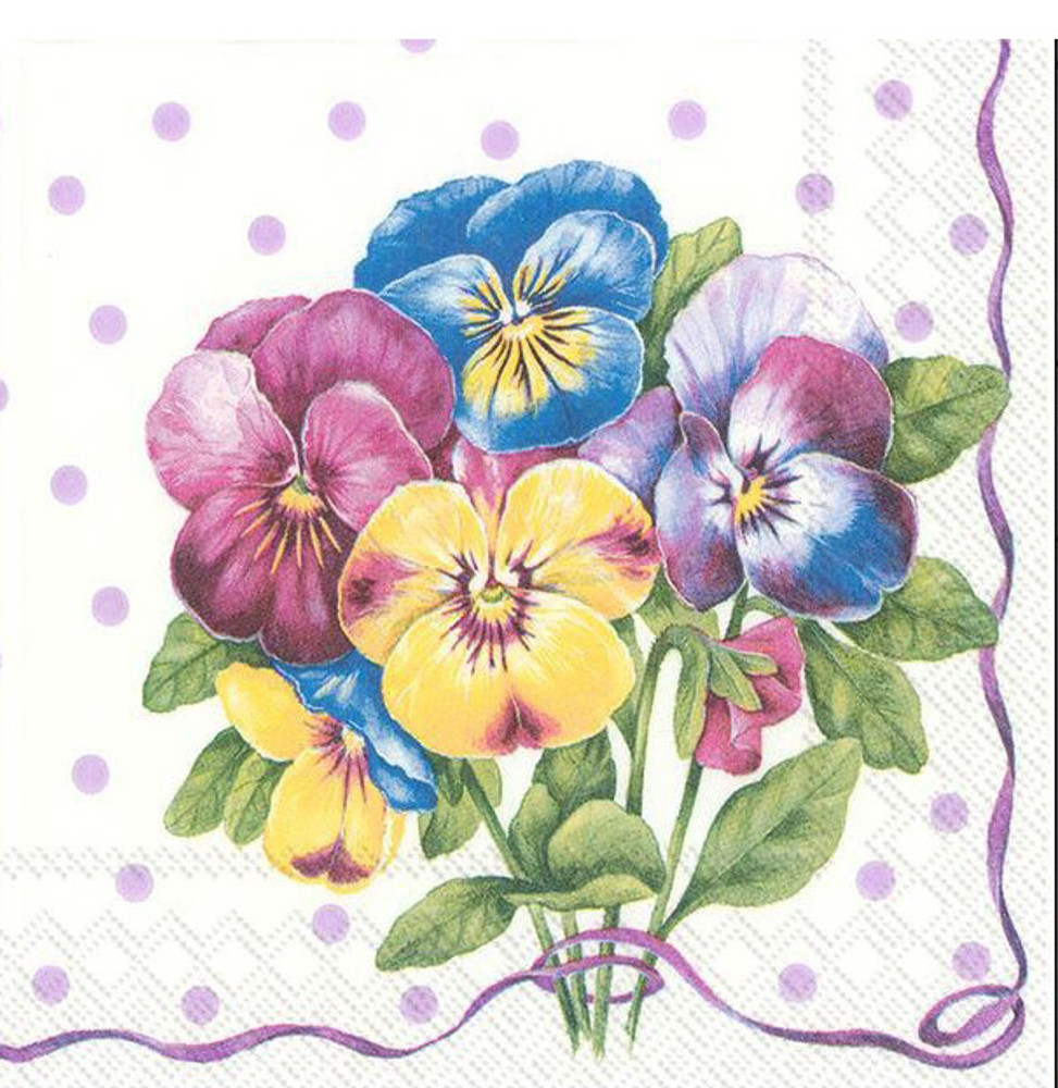 Pansy Cocktail Napkins