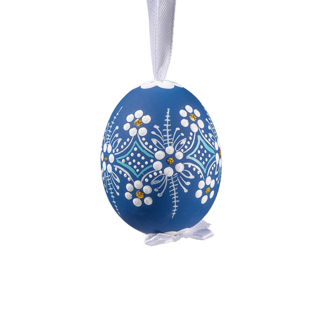Easter Egg Blue with White Flowers