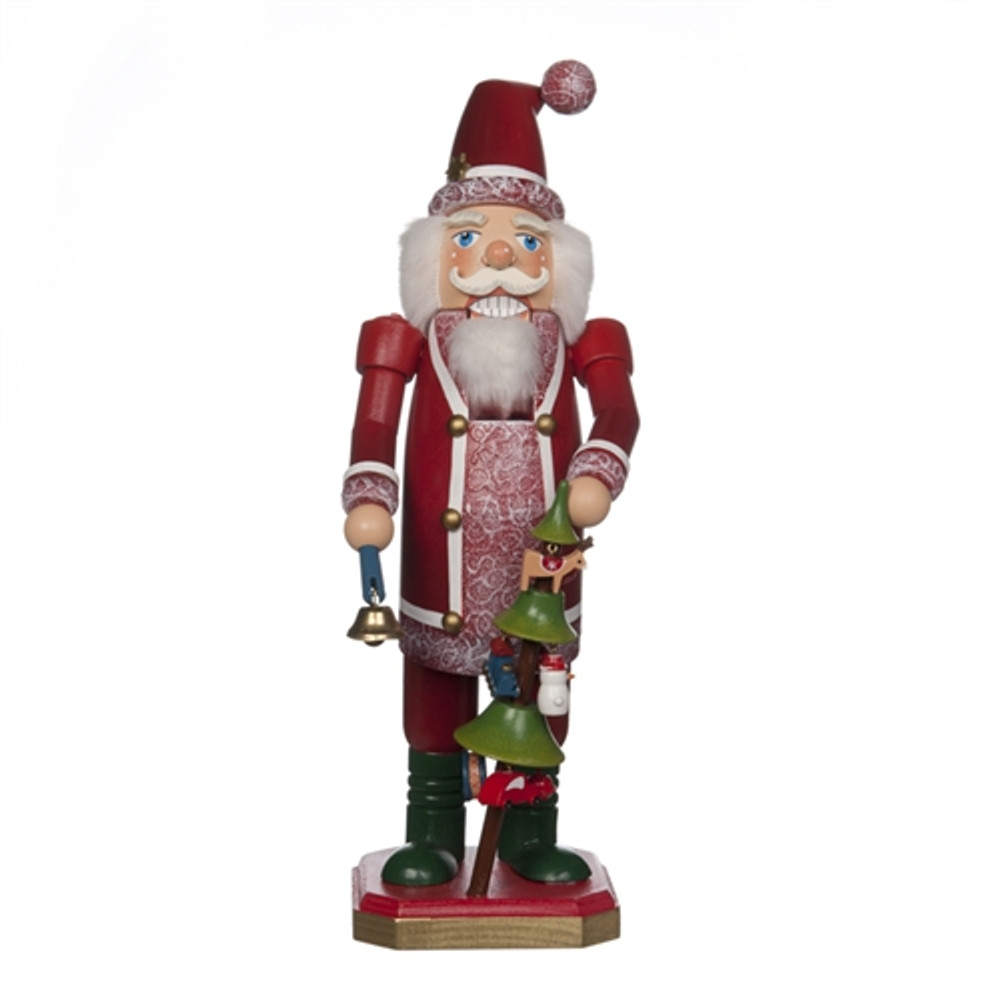 Santa and a Decorated Christmas Tree