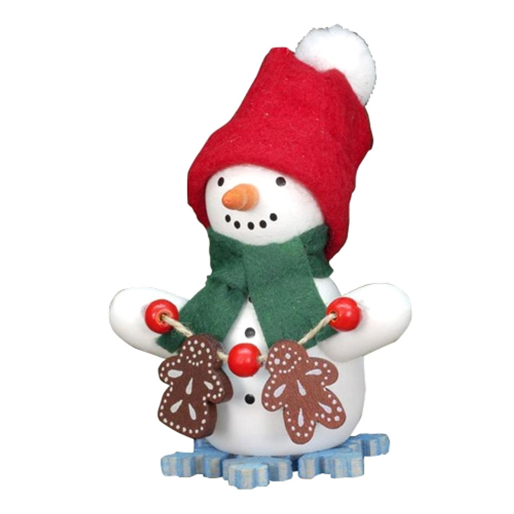 Snowman with Gingerbread Men