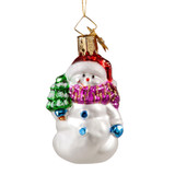 Snowman Holding a Tree