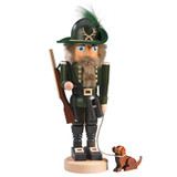 Green Hunter with Dog Nutcracker