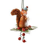 Country Squirrel Wood Ornament