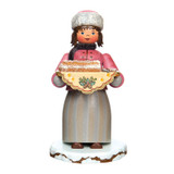 Girl with Stollen Bread Incense Smoker