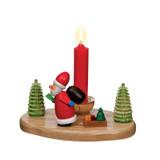 Santa pulling a sled candleholder