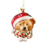 Bear with Santa Hat and Scarf