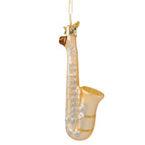 Saxophone Glass Ornament