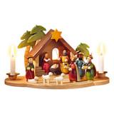 Christmas Manger Candleholder