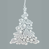 Christmas Tree Linen Ornament