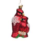 Cardinals Glass Ornament