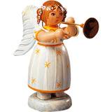 Yellow Stars Angel with Trumpet