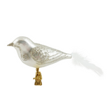 White and Silver Bird with White Tail