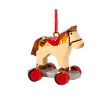 Toy Horse on Wheels Wood Ornament