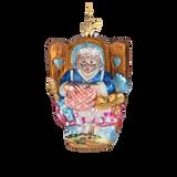 Mother Hubbard Glass Ornament