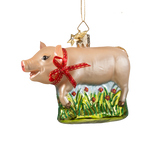 Animal Series Pig Glass Ornament