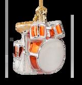 Drum Set Glass Ornament