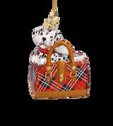 Dalmatian Pup Glass Ornament