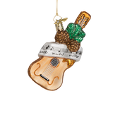 Silent Night Guitar Glass Ornament