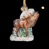 Roaring Elk Glass Ornament