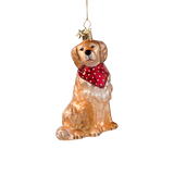Golden Retreiver Glass Ornament