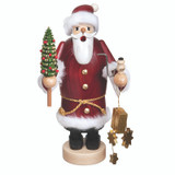 Santa with Gold Stars and Gift Box