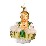 Oktoberfest Waitress Glass Ornament