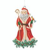 Santa with Poinsettias