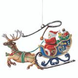 Santa Sleigh in Flight