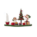 Angels with Christmas Tree Candleholder