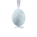 Easter Egg Pastel Blue with Daisies
