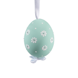 Easter Egg Pastel Green with Dasies