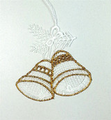 Gold Bells Linen Ornament