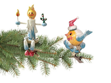 """Frosty """"Twittering"""" Bird"""