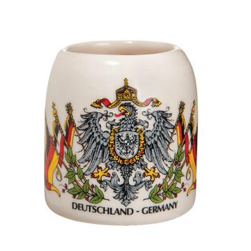 German Seal with Flags Shotglass