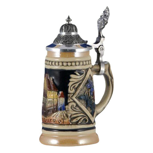 Rothenburg with Flowers Beer Stein