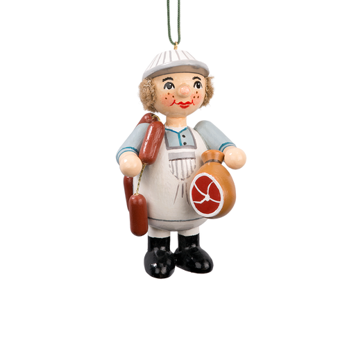 Holzbuddy Butcher in Apron Wood Ornament