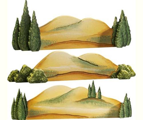 Hilly Landscape (set of 3)