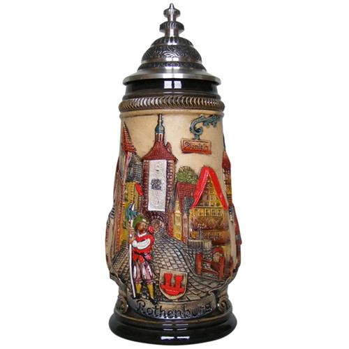 Rothenburg Red Beer Stein 1/4 Liter