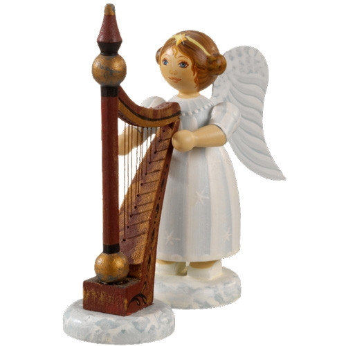 White Dress Angel with Harp