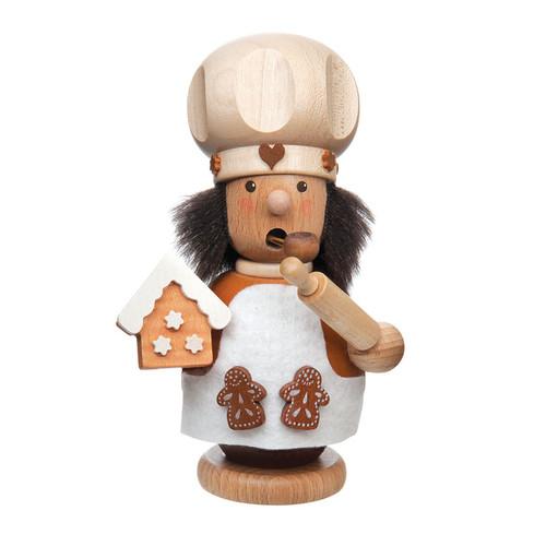 Baker Making Gingerbread Houses Incense Smoker