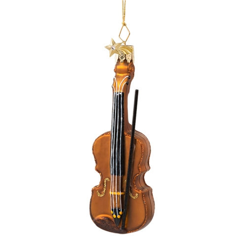 Violin Glass Ornament