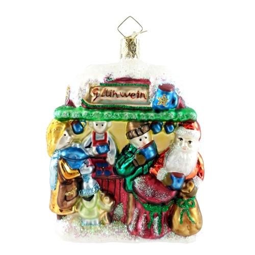 Gluhwein Booth with Santa