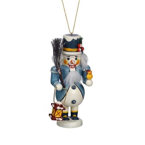 Snowman in Blue Coat