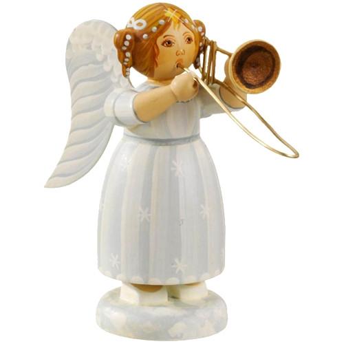 White Dress Angel with Trombone